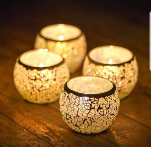 Mosaic Candle Holders Handmade Glass Tea Light Votive set of 4 by JABORN for Sale in Seminole, FL