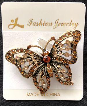 Rhinestone butterfly brooch for Sale in Sarasota, FL