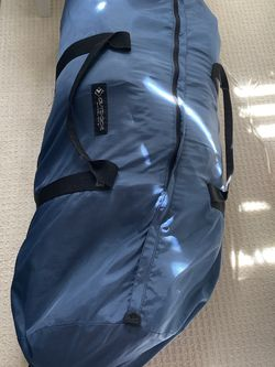 A camping essential. Large duffel bag includes two sleeping bags one sleeping mat with pillow for Sale in Newport Beach,  CA