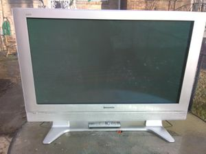 Silver Panasonic 42 inch TV with remote control and HDMI port for Sale in Washington, DC