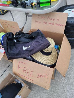 Yard sale free stuff box for Sale in Ontario, CA