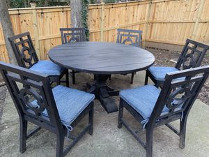 New Outdoor Teak Dining Table & 6 Chairs for Sale in Raleigh, NC