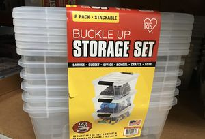 Storage boxes set of 6 for Sale in Sammamish, WA