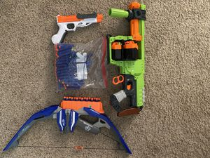 Nerf guns and bow and arrows and bullets for Sale in Gilbert, AZ