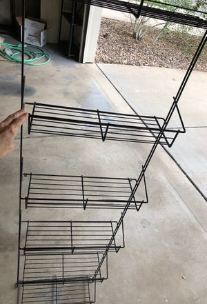 Metal 6 Basket Wall/Door shelving for Sale in Denver, CO