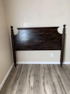 Queen bed. Headboard, footboard, rails, slats, no mattress for Sale in Riverside, CA