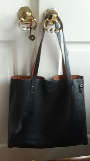 Cute black leather large tote bag. Excellent condition. for Sale in New York, NY