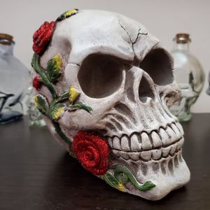 Ceramic Day of the Dead Skull decorative display piece for Sale in Long Beach, CA