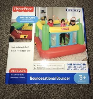 Fisher Price Bouncesational Bouncer Bestway Bounce House with Built-In Pump Fast for Sale in Tallmansville, WV