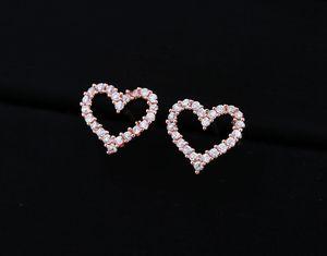 Rose Gold Heart Shaped Diamond Earrings for Sale in Waxahachie, TX