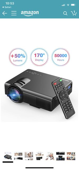 TENKER Upgrade Lumens Mini Projector, with Big Display LED Full HD Video Projector, Compatible with 1080P HDMI, Fire TV Stick, VGA, USB, AV for Home for Sale in Phoenix, AZ