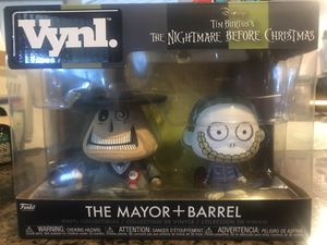 Mayor and barrel nightmare before Christmas vynl NEW for Sale in Hesperia, CA