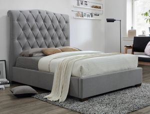 Brand new gray or biege king bed frame for Sale in San Diego, CA