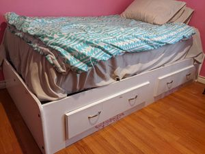 Twin Bed Frame with 2 Drawers for Sale in Watauga, TX