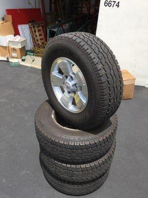 LT265/70R17 Tires & wheel semi New All terrain for Sale in Riverside, CA
