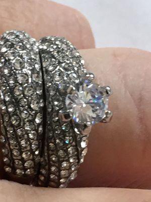 Women's Wedding Set Rings Round Cut White Sapphire Size9.5 for Sale in Nashville, TN