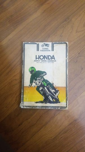 Honda motorcycle service repair handbook for Sale in Paramount, CA