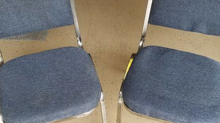 2 Metal Chairs With Blue Cloth for Sale in Lantana,  FL
