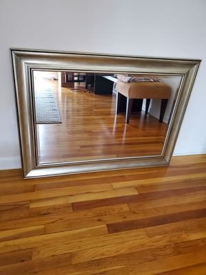 Beautiful Silver Wood Wall Mirror 43x31 for Sale in Silver Spring, MD