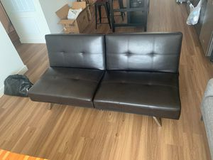 Brown futon couch/sofa- Barely used in good condition for Sale in Phoenix, AZ