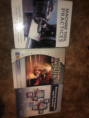 College Text Books 📚 Welding Skills, Machine Tool Practices, Electrical Principals and Practices for Sale in Dinuba, CA
