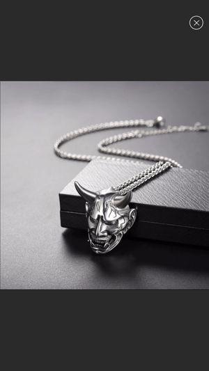 newGothic Horn Evil Devil Demon Stainless Steel necklace for Sale in Buford, GA