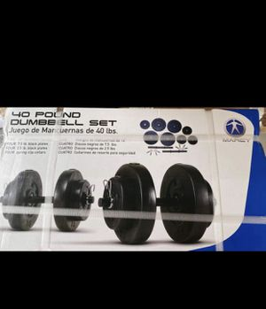 Brand new 40lbs adjustable dumbbell set for Sale in Los Angeles, CA