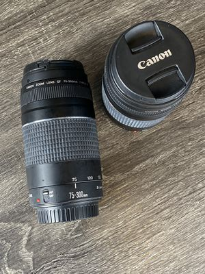 Canon zoom lens 75-300mm 1:4-5:6 III EF for Sale in Midland, TX