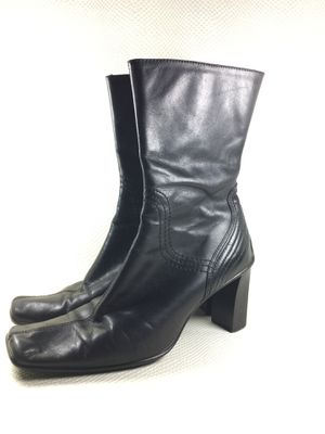 90s Vintage Black Leather Mid Calf Boots Womens 8 for Sale in Pomona, CA