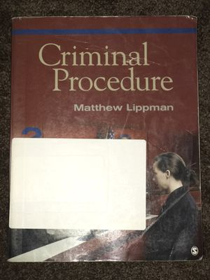Criminal Procedure 2nd Edition for Sale in Downey, CA