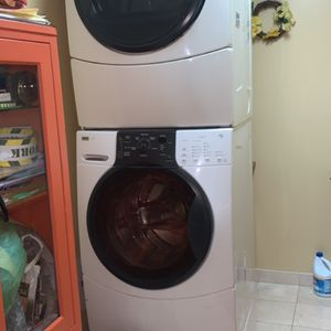 Kenmore Elite Quiet PAK2 Washer And Dryer With Storage Compartment for Sale in Brooklyn, NY