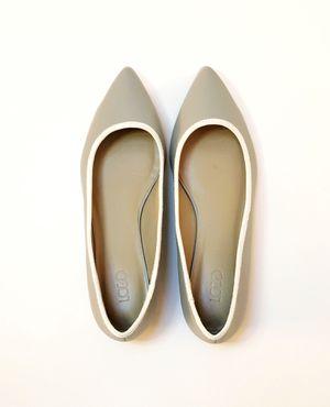 Size 7 LOGO by Lori Goldstein Grey Audrey Ballet Flats | QVC for Sale in Richmond, VA