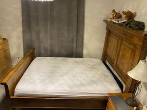 Queen Bed Frame and Back Board for Sale in Issaquah, WA