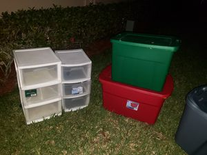 PLASTIC BINS AND DRAWERS see details for Sale in Boca Raton, FL