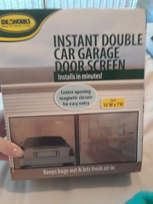 Instant double car garage door screen for Sale in Bradenton, FL
