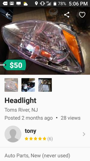 2003 brand new altma right head light for Sale in Jersey City, NJ