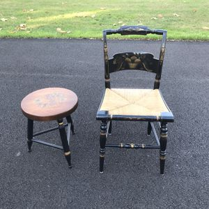Hitchcock chair and stool/table $85 (Blacklick) for Sale in Blacklick, OH