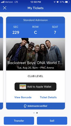 Backstreet Boys Concert Ticket for Sale in Cary, NC