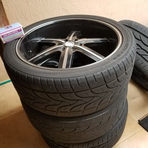 4 Strada Rims With Tires Included for Sale in Miami, FL