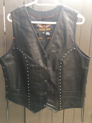 Leather motorcycle vest for Sale in San Marcos, CA