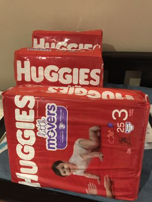 3 Huggies Little Movers Diapers Size 3 for Sale in San Diego, CA