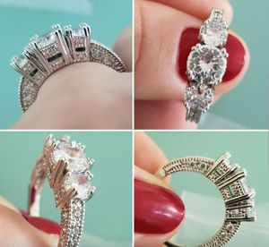 Ring Fashion Jewelry Classic 925 Silver Engagement Wedding Gift Women Girl New for Sale in Los Angeles, CA