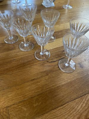 7 Antique Baccarat crystal glasses for Sale in Moorpark, CA