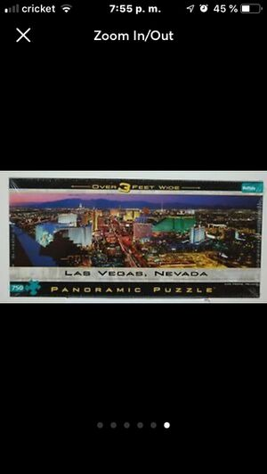 New Puzzle Las Vegas Nevada Strip Panoramic 750 Pieces Over 3' Wide Buffalo Game for Sale in Tampa, FL
