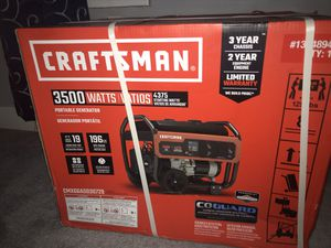 Craftsman 3500 watt generator for Sale in Detroit, MI
