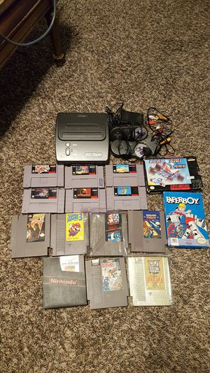 Trading an Nintendo NES/SNES Lot for a Nintendo Wii U or Xbox One S for Sale in Bakersfield, CA