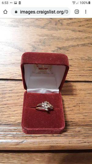 NICE 10K GOLD WEDDING SET for Sale in Lynchburg, VA
