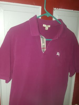 Burberry mens polo shirt for Sale in Denver, CO