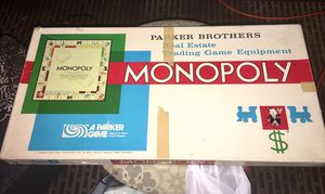 Parker Brothers 1961 Monopoly Board Game for Sale in Neenah, WI