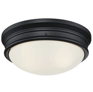 Westinghouse Lighting 6324100 Meadowbrook Two-Light Indoor Flush-Mount Ceiling Fixture, Matte Black Finish with Frosted for Sale in Las Vegas, NV